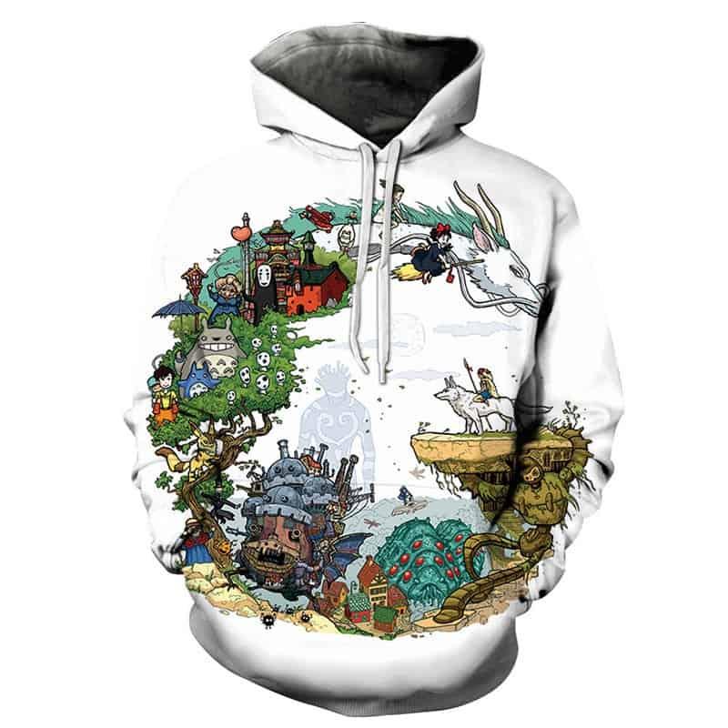 30 years of studio ghibli hoodie chilled hoodies